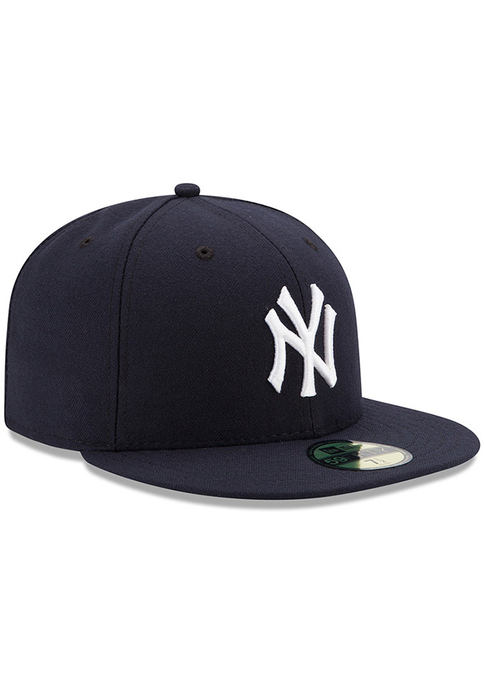 New Era New York Yankees Mens Blue AC Game 59FIFTY Fitted Hat - Image 2
