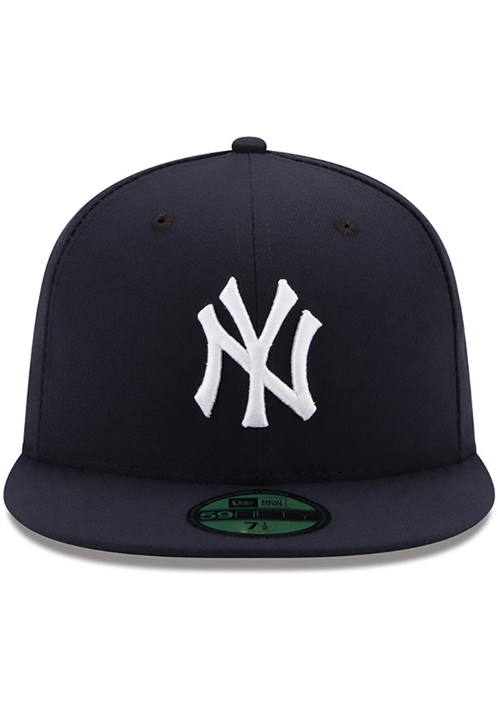 New Era New York Yankees Mens Blue AC Game 59FIFTY Fitted Hat - Image 3