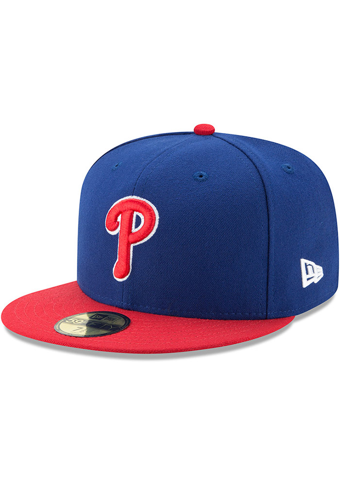 New Era Philadelphia Phillies Mens Blue AC Alt 59FIFTY Fitted Hat - Image 1