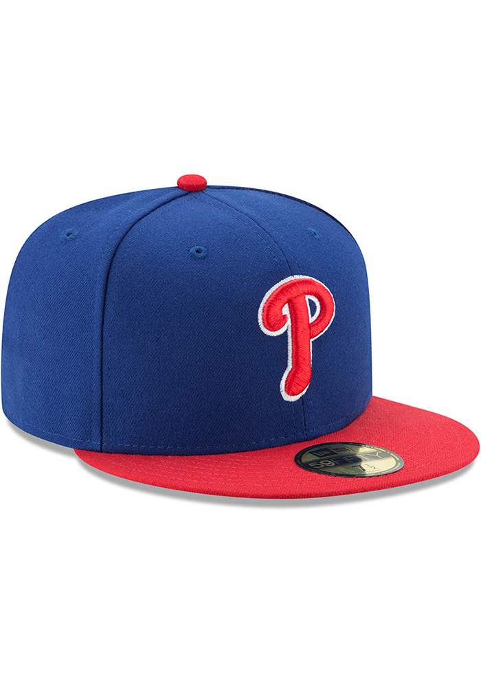 New Era Philadelphia Phillies Mens Blue AC Alt 59FIFTY Fitted Hat - Image 2