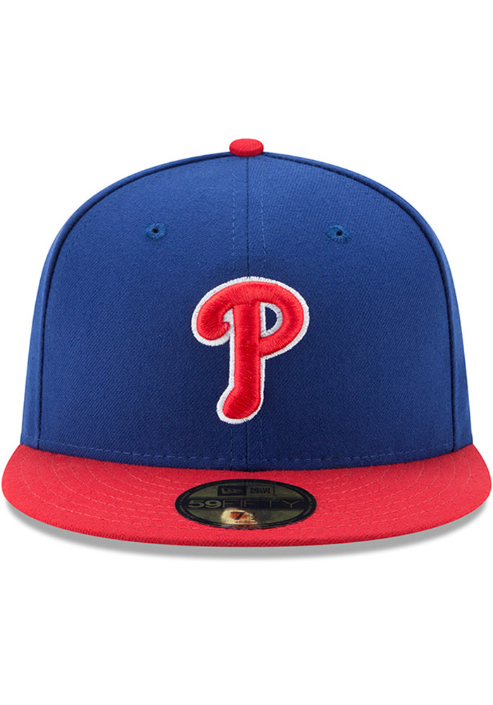 New Era Philadelphia Phillies Mens Blue AC Alt 59FIFTY Fitted Hat - Image 3
