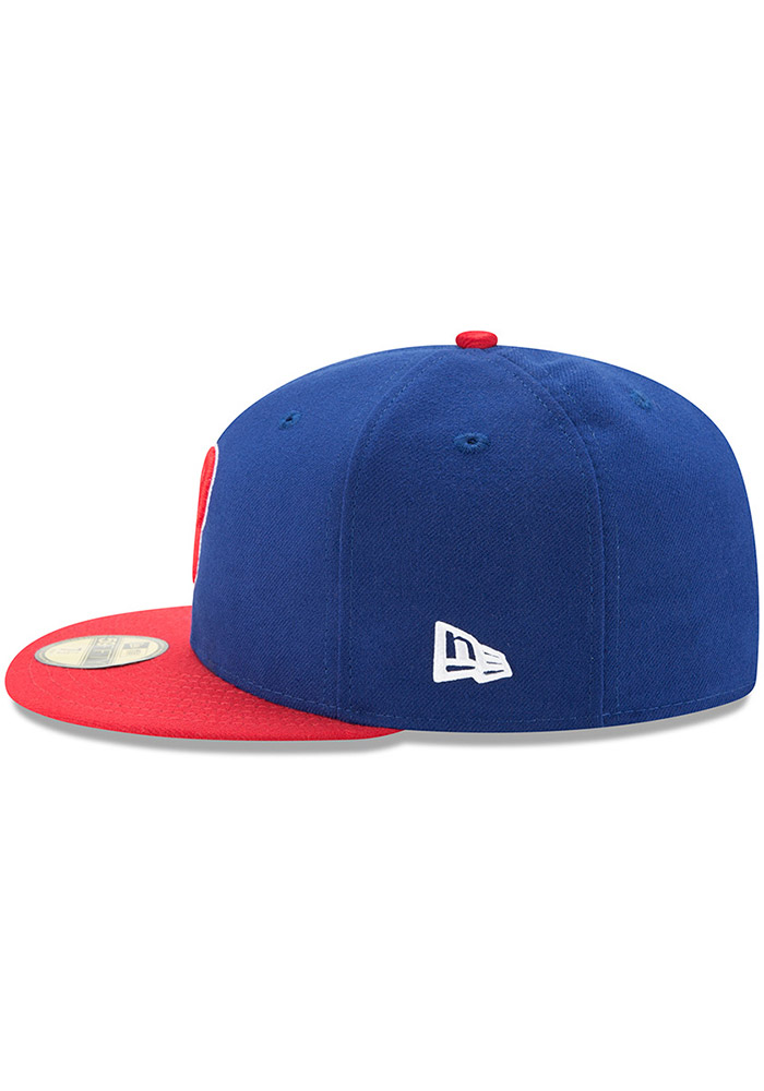New Era Philadelphia Phillies Mens Blue AC Alt 59FIFTY Fitted Hat - Image 4