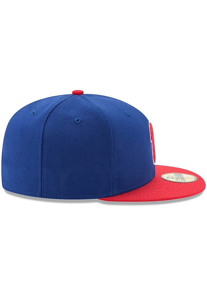 New Era Philadelphia Phillies Mens Blue AC Alt 59FIFTY Fitted Hat - Image 6