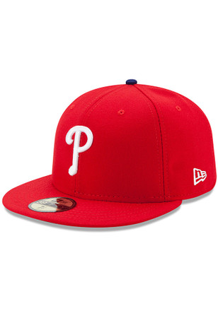 Philadelphia Phillies New Era Mens Red AC GAME 59FIFTY Fitted Hat