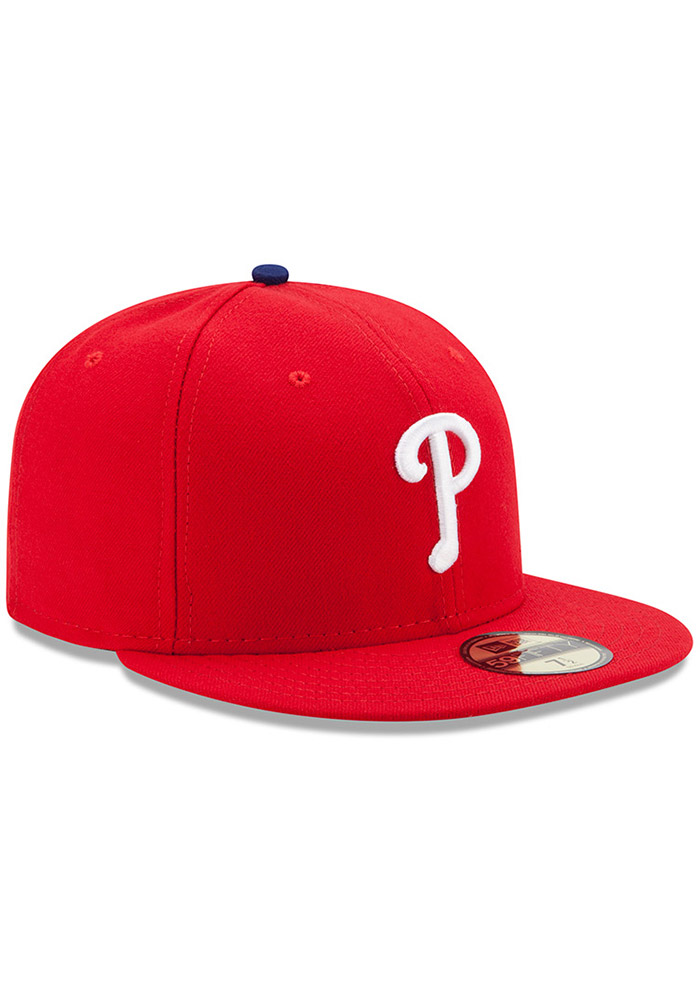 New Era Philadelphia Phillies Mens Red AC GAME 59FIFTY Fitted Hat - Image 2