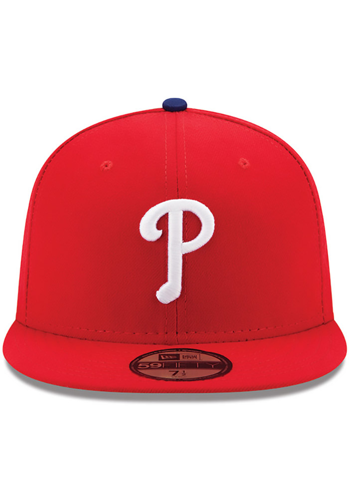 New Era Philadelphia Phillies Mens Red AC GAME 59FIFTY Fitted Hat - Image 3