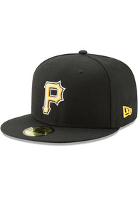 Pittsburgh Pirates New Era Black AC Alt 59FIFTY Fitted Hat