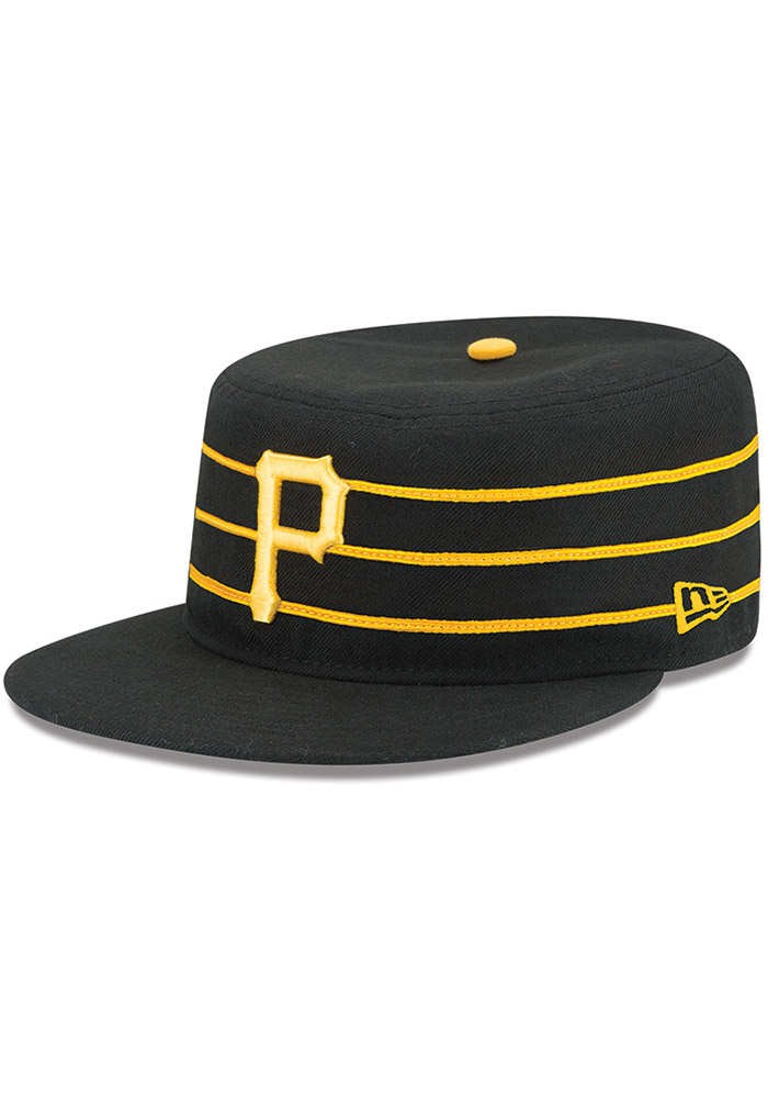 76d7db335e581 New Era Pittsburgh Pirates Mens Yellow AC Pill Box 59FIFTY Fitted Hat -  Image 1