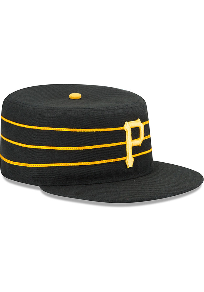 New Era Pittsburgh Pirates Mens Yellow AC Pill Box 59FIFTY Fitted Hat - Image 2