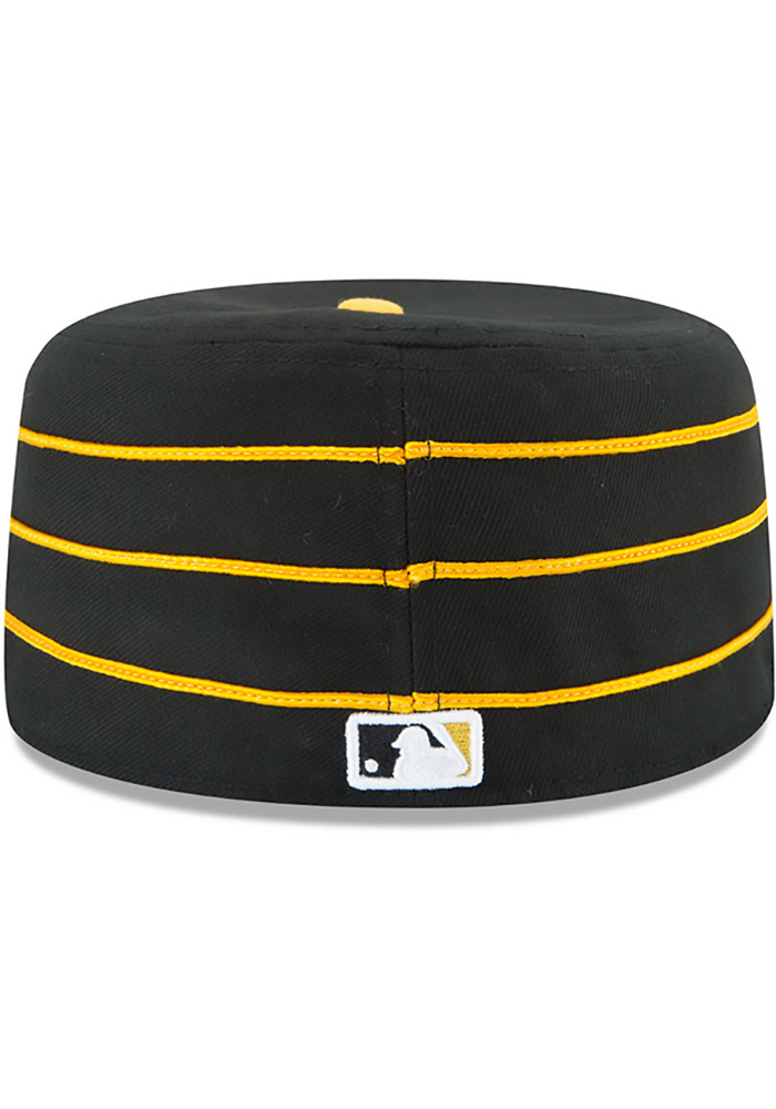 New Era Pittsburgh Pirates Mens Yellow AC Pill Box 59FIFTY Fitted Hat - Image 4