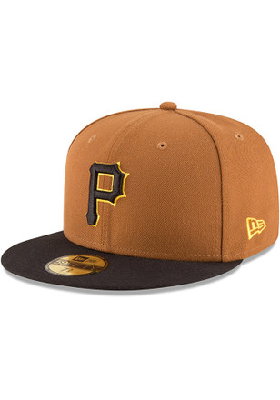 Pittsburgh Pirates New Era Mens Yellow AC Alt3 59FIFTY Fitted Hat