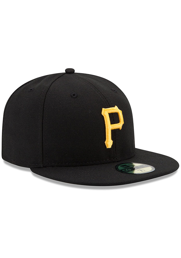 New Era Pittsburgh Pirates Mens Yellow AC Game 59FIFTY Fitted Hat - Image 2