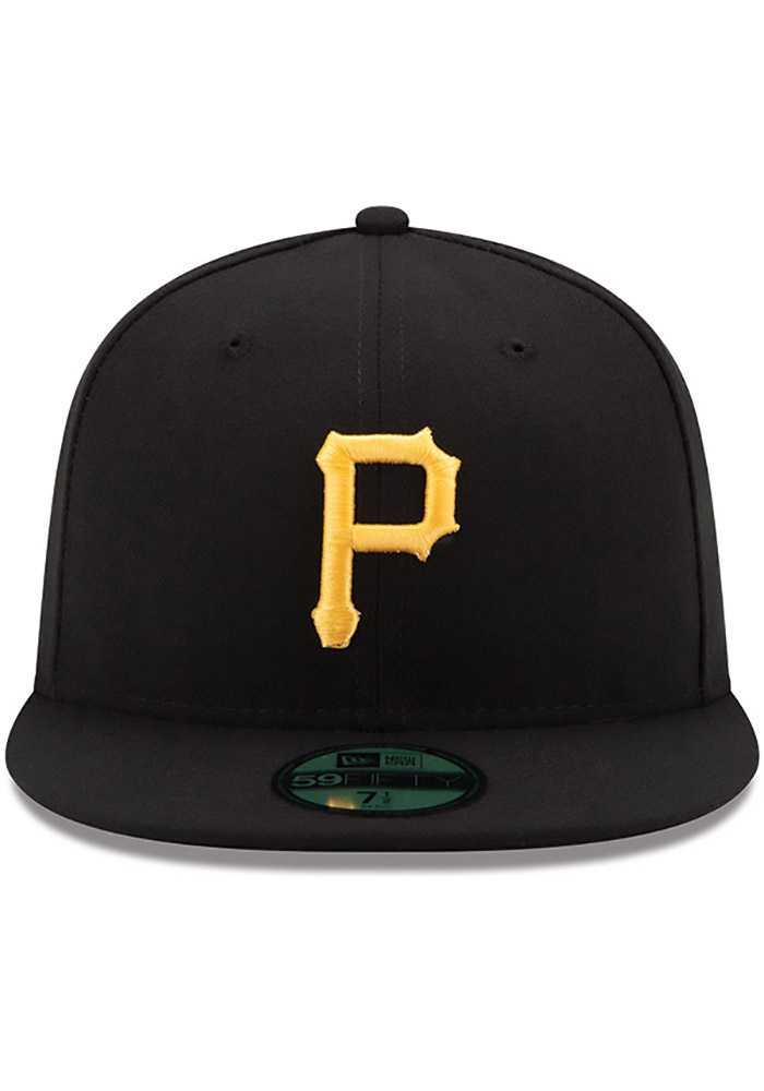 New Era Pittsburgh Pirates Mens Yellow AC Game 59FIFTY Fitted Hat - Image 3