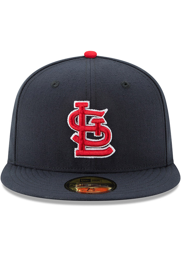 New Era St Louis Cardinals Mens Navy Blue AC Alt 59FIFTY Fitted Hat - Image 3