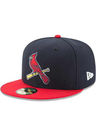 St Louis Cardinals New Era Mens Red AC Alt2 59FIFTY Fitted Hat