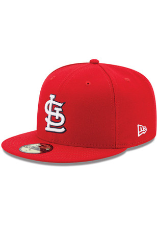St Louis Cardinals New Era Mens Red AC Game 59FIFTY Fitted Hat