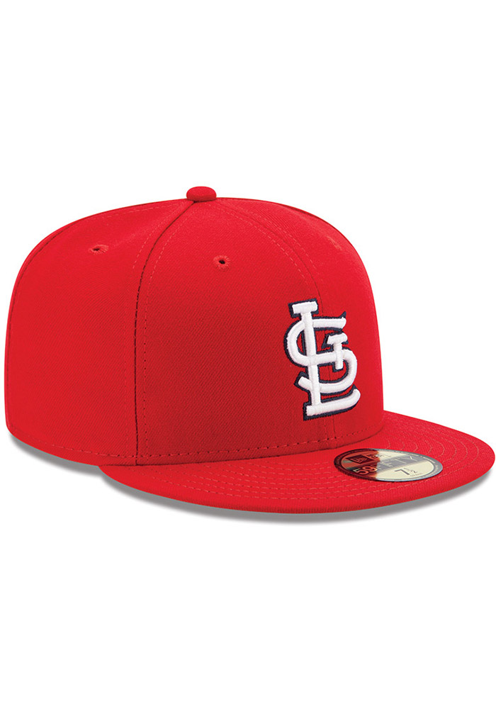New Era St Louis Cardinals Mens Red AC Game 59FIFTY Fitted Hat - Image 2