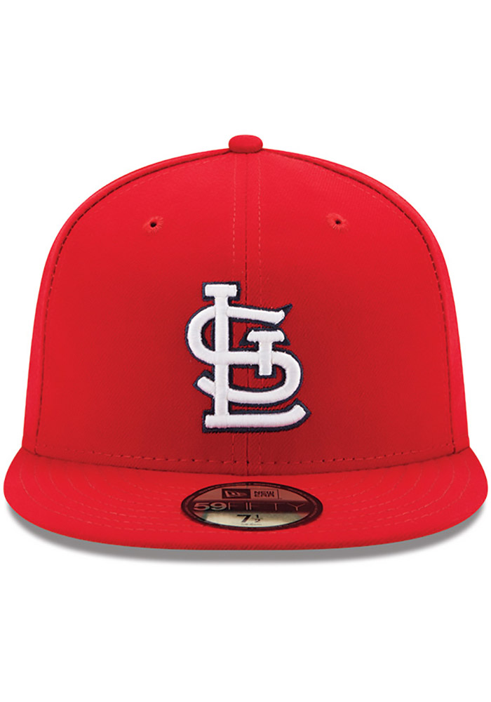 New Era St Louis Cardinals Mens Red AC Game 59FIFTY Fitted Hat - Image 3
