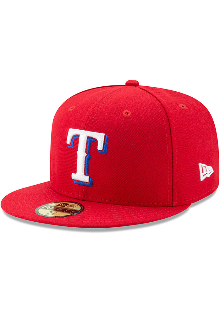 New Era Texas Rangers Mens Red AC Alt 59FIFTY Fitted Hat - Image 1