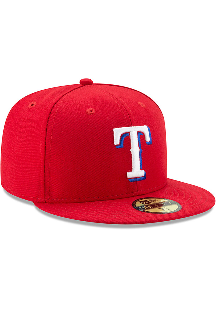 New Era Texas Rangers Mens Red AC Alt 59FIFTY Fitted Hat - Image 2