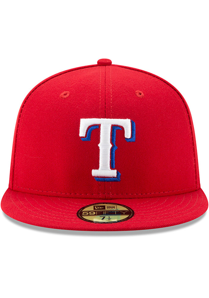 New Era Texas Rangers Mens Red AC Alt 59FIFTY Fitted Hat - Image 3
