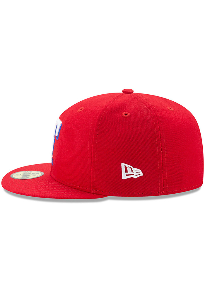 New Era Texas Rangers Mens Red AC Alt 59FIFTY Fitted Hat - Image 4
