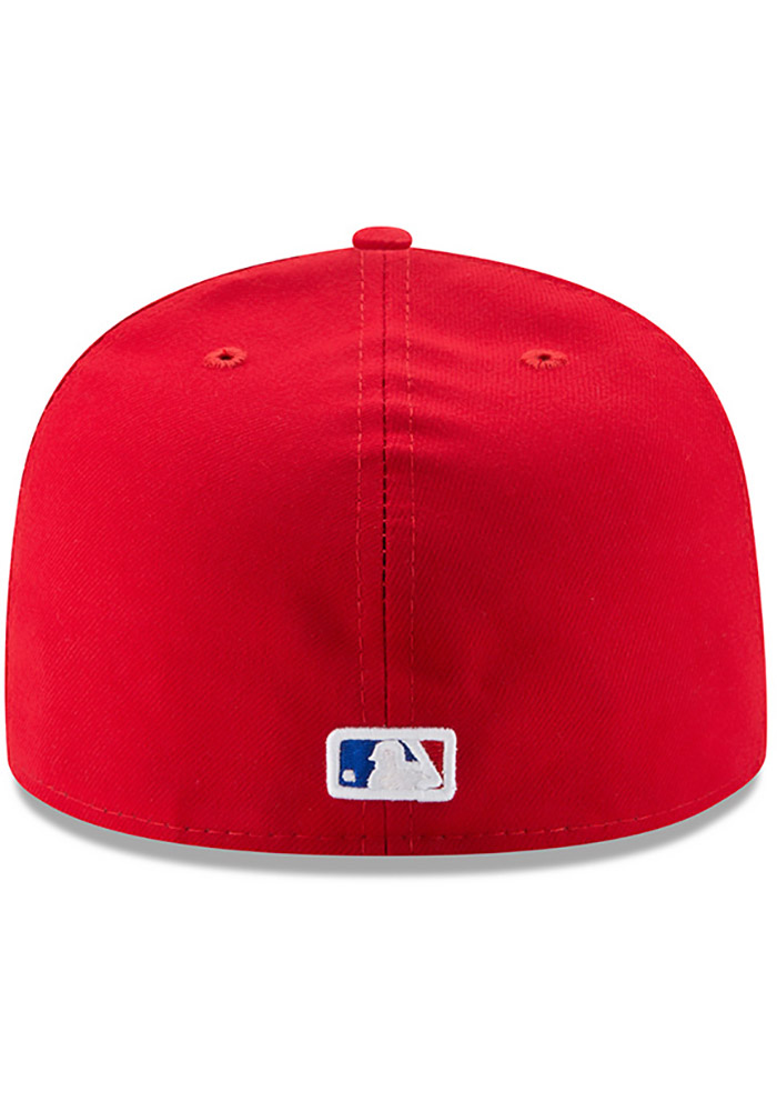New Era Texas Rangers Mens Red AC Alt 59FIFTY Fitted Hat - Image 5