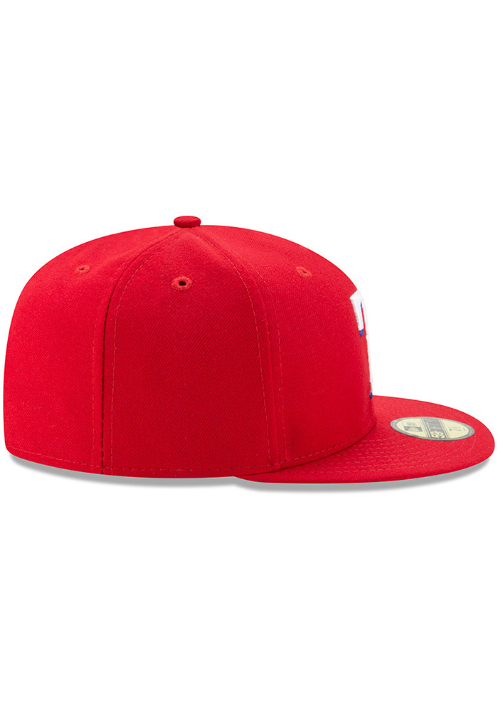 New Era Texas Rangers Mens Red AC Alt 59FIFTY Fitted Hat - Image 6