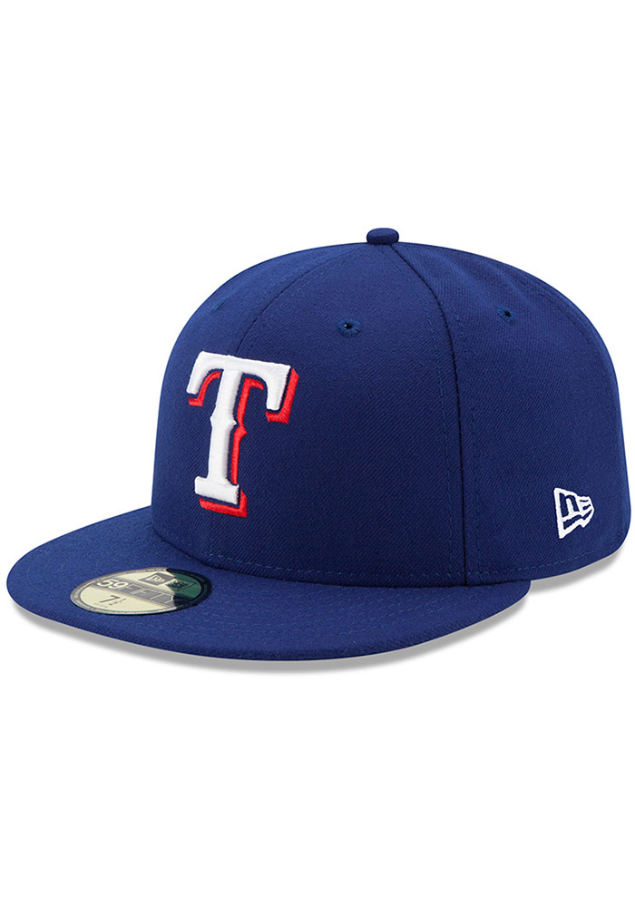 New Era Texas Rangers Mens Blue AC Game 59FIFTY Fitted Hat - Image 1