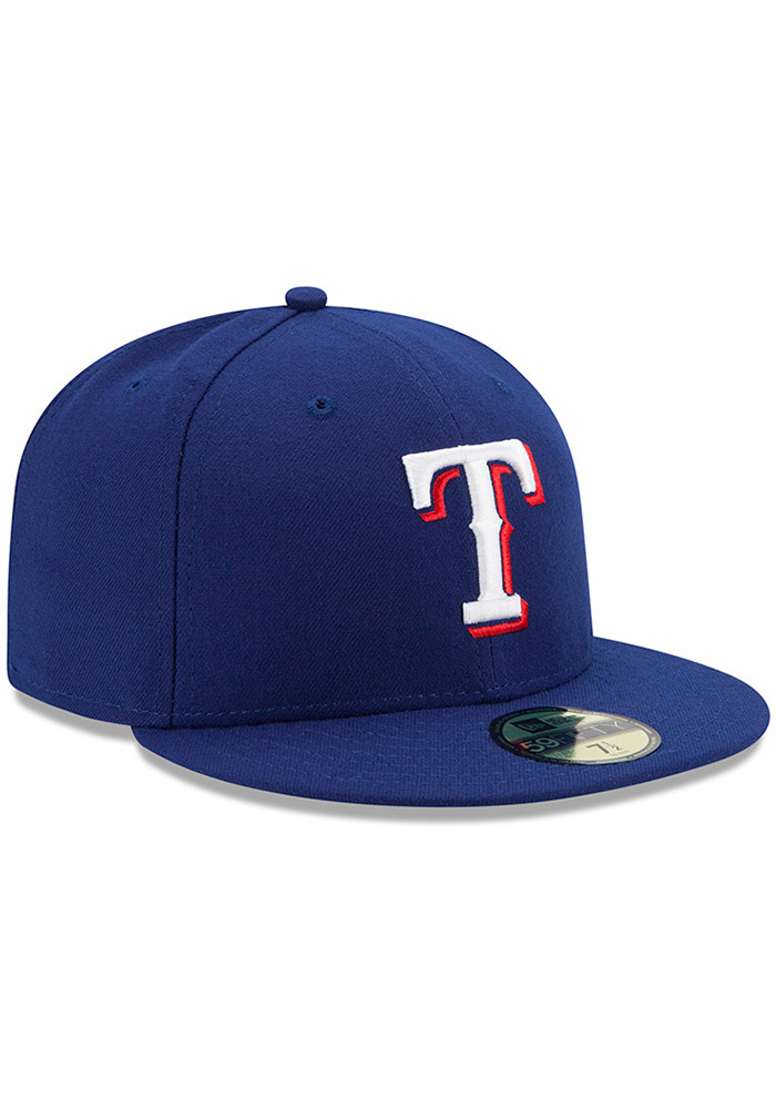 New Era Texas Rangers Mens Blue AC Game 59FIFTY Fitted Hat - Image 2