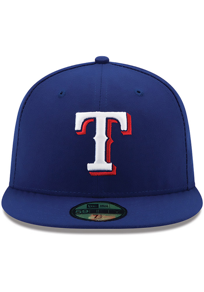 New Era Texas Rangers Mens Blue AC Game 59FIFTY Fitted Hat - Image 3