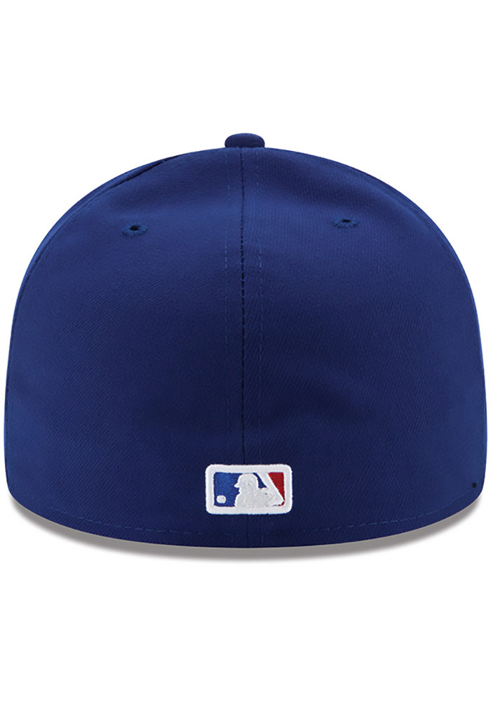 New Era Texas Rangers Mens Blue AC Game 59FIFTY Fitted Hat - Image 4