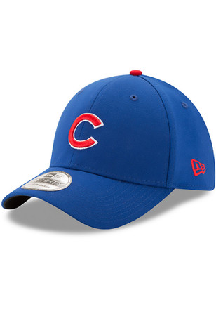 New Era Chicago Cubs Mens Blue Game Team Classic 39THIRTY Flex Hat