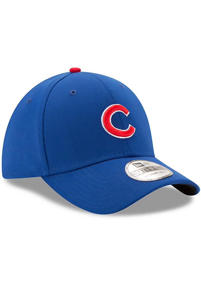 New Era Chicago Cubs Mens Blue Game Team Classic 39THIRTY Flex Hat - Image 2