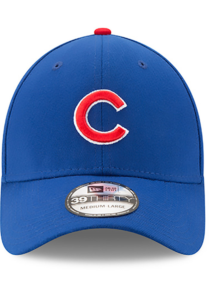 New Era Chicago Cubs Mens Blue Game Team Classic 39THIRTY Flex Hat - Image 3