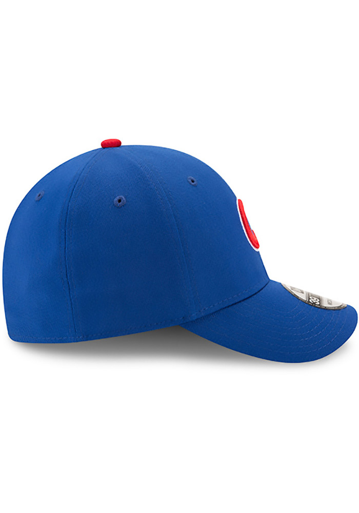 New Era Chicago Cubs Mens Blue Game Team Classic 39THIRTY Flex Hat - Image 5