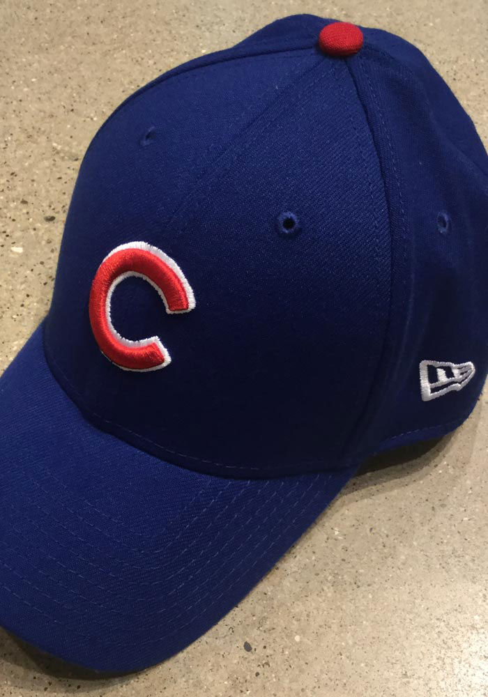 New Era Chicago Cubs Mens Blue Game Team Classic 39THIRTY Flex Hat - Image 6