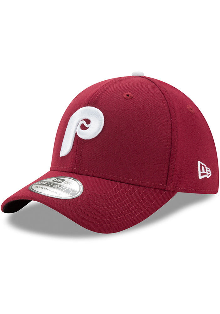 New Era Philadelphia Phillies Maroon Cooperstown Team Classic 39THIRTY Flex  Hat cf5873ee9d4c