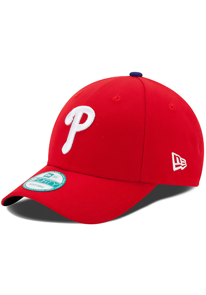 New Era Philadelphia Phillies Red Game Jr The League 9FORTY Kids Adjustable Hat - Image 1