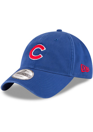 New Era Chicago Cubs Mens Blue Core Classic 9TWENTY Adjustable Hat