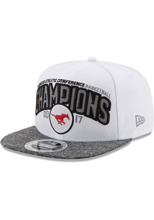 New Era Mustangs White AAC Champ LR 9FIFTY Snapback Hat