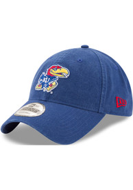 New Era Kansas Jayhawks Core Classic 9TWENTY Adjustable Hat - Blue