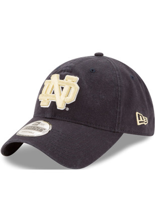 New Era Notre Dame Fighting Irish Navy Blue Core Classic 9TWENTY Adjustable  Hat 2a9cd2574ac
