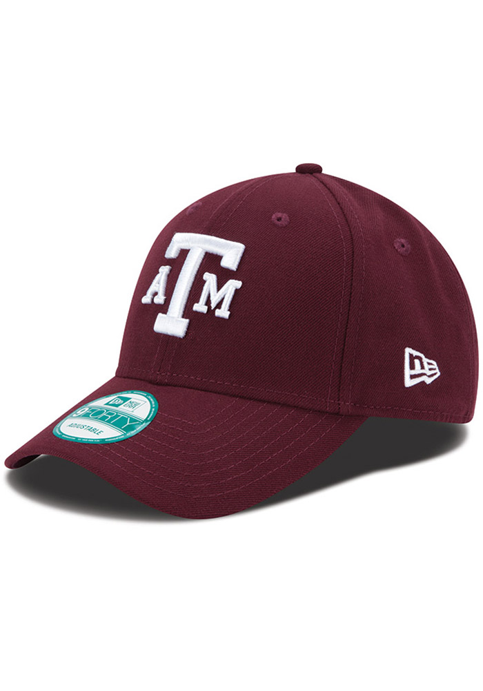 New Era Texas A&M Aggies The League 9FORTY Adjustable Hat - Maroon - Image 1