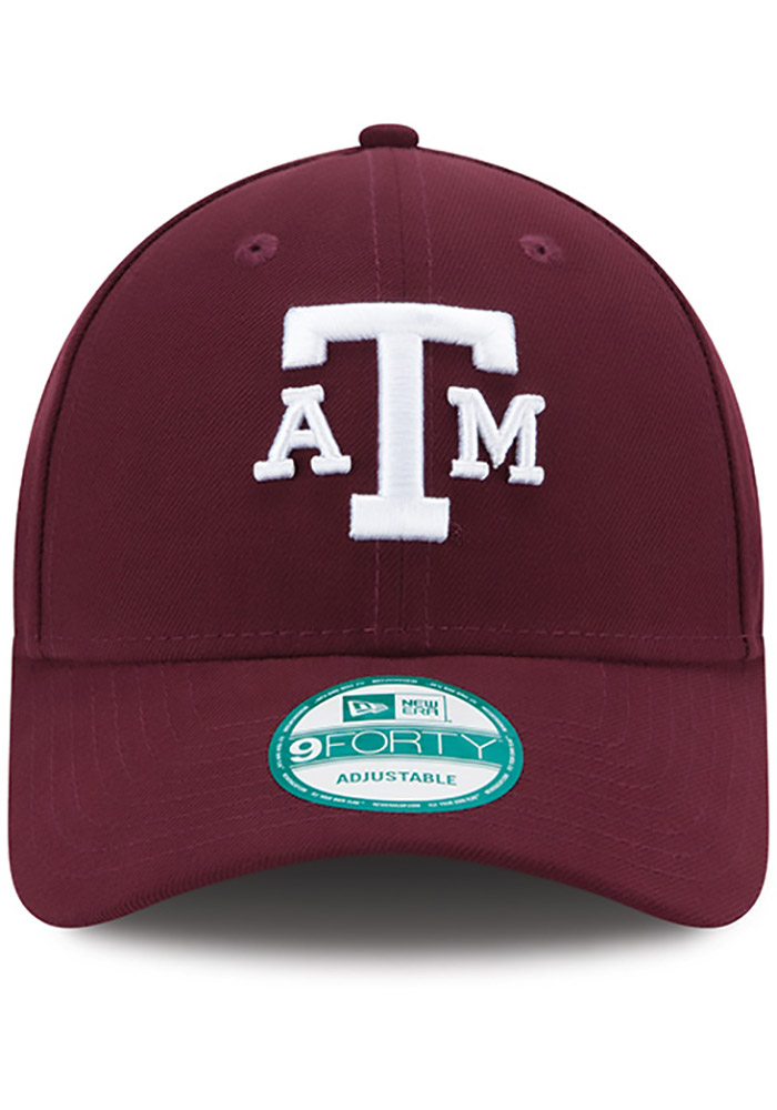 New Era Texas A&M Aggies The League 9FORTY Adjustable Hat - Maroon - Image 3