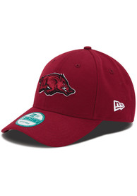 New Era Arkansas Razorbacks The League 9FORTY Adjustable Hat - Crimson