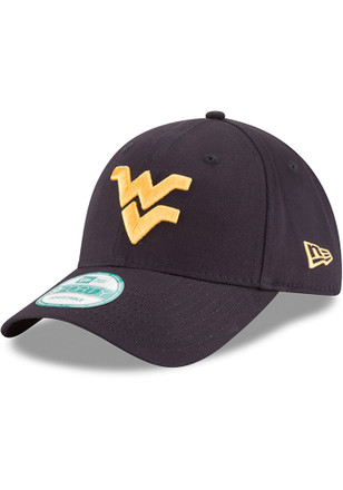 New Era West Virginia Mountaineers Mens Navy Blue The League 9FORTY Adjustable Hat