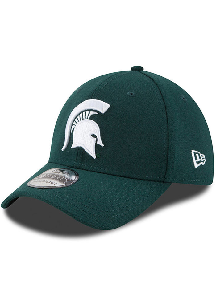 New Era Michigan State Spartans Mens Green Classic 39THIRTY Flex Hat - Image 1