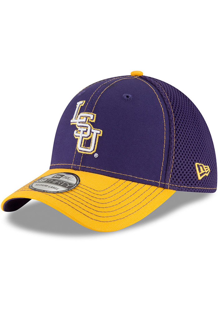 New Era LSU Tigers Mens Purple 2T Neo 39THIRTY Flex Hat - Image 1