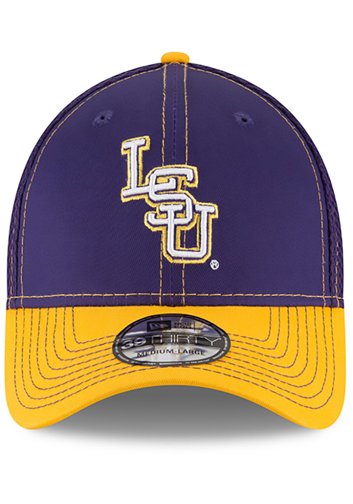 New Era LSU Tigers Mens Purple 2T Neo 39THIRTY Flex Hat - Image 3